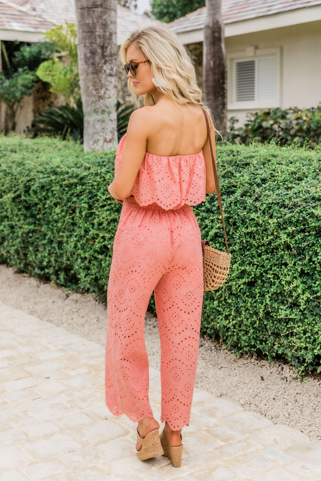 Have The Best Time Crochet Two Piece Set Terracota