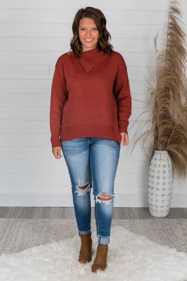 Hold Me Close Cinnamon Sweater FINAL SALE