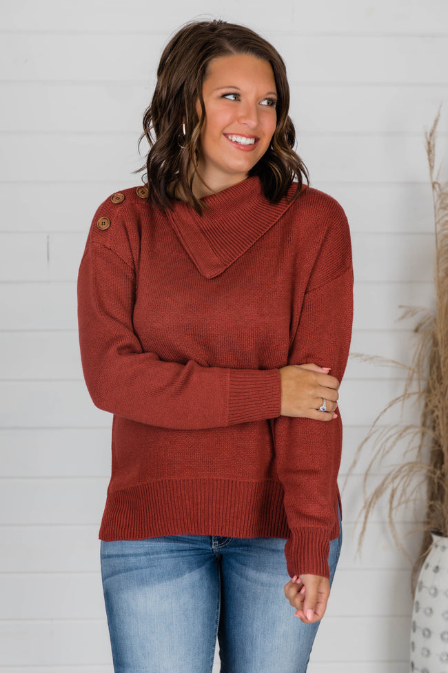 Hold Me Close Cinnamon Sweater CLEARANCE