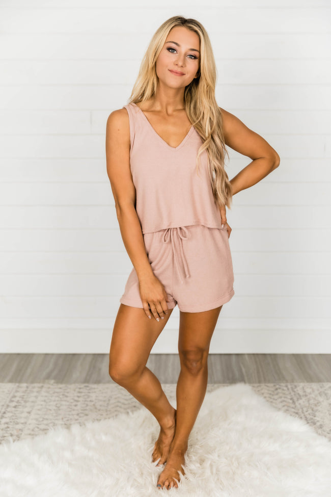 Hopelessly In Love Rose Two Piece Set