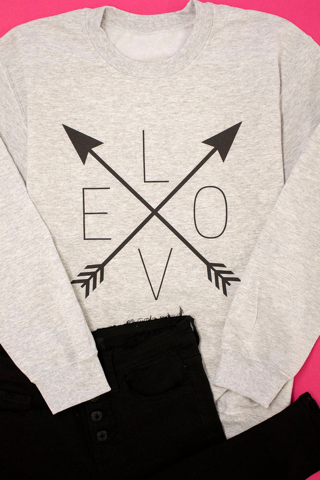 Arrows Of Love Ash Graphic Sweatshirt