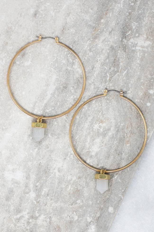 I'll Be Happy Crystal Hoop Earrings