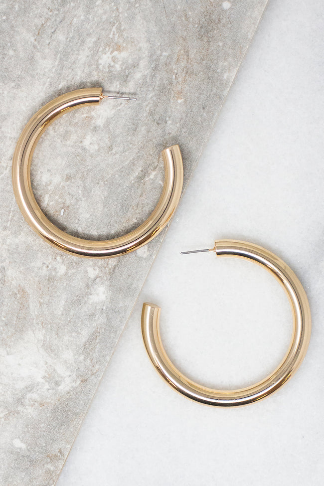 Crash Into Love Gold Hoop Earrings