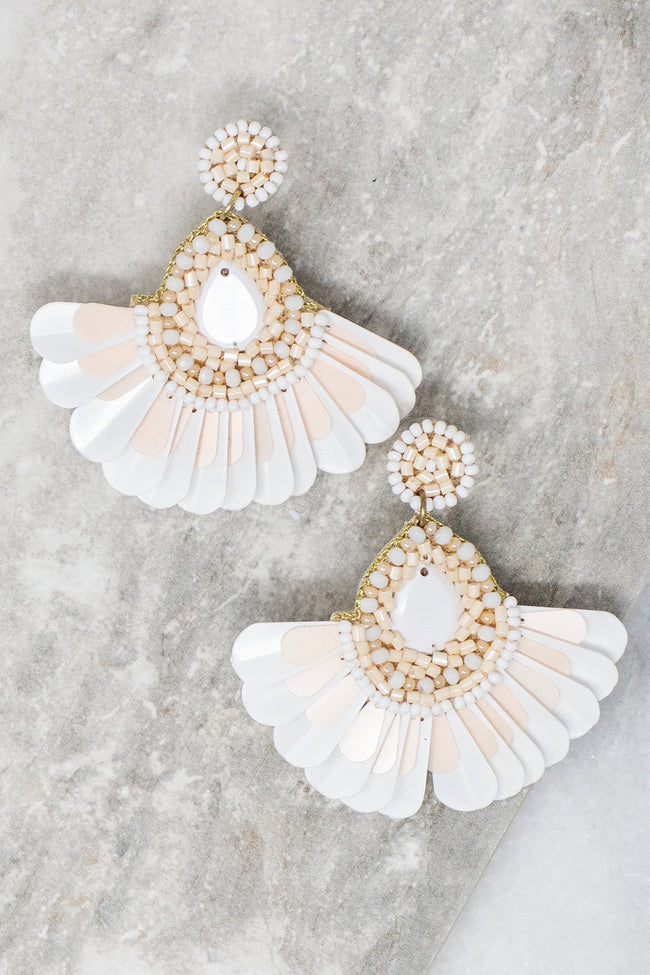 Cruising Down The Coast White Earrings