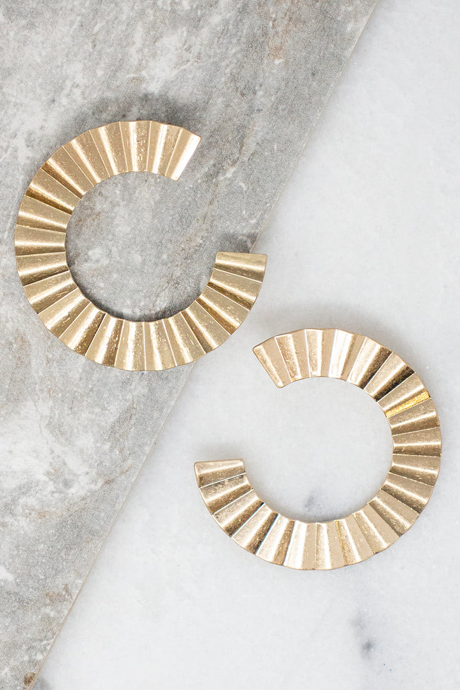 All About Me Gold Earrings