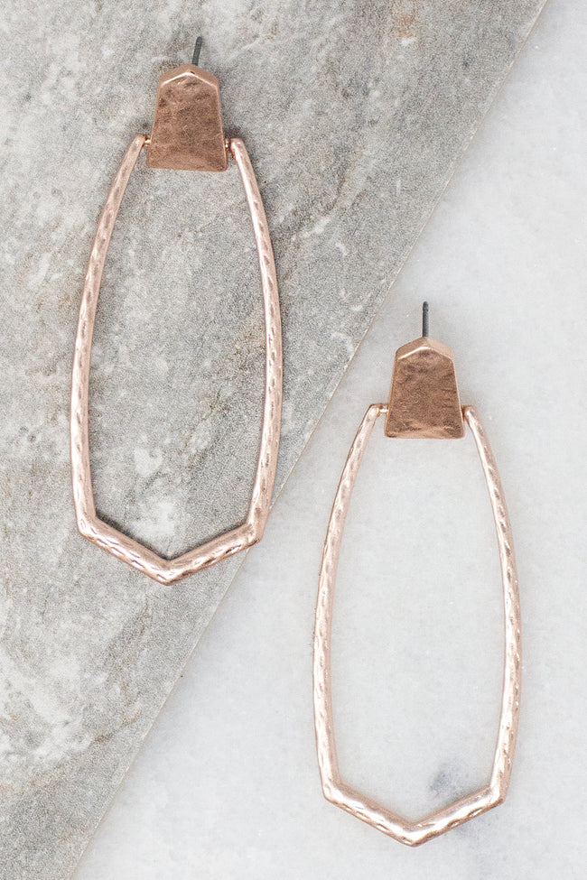 Chasing Stars Rose Gold Earrings