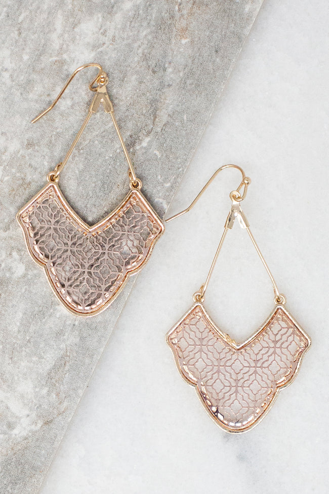 Leave You Breathless Rose Gold Earrings