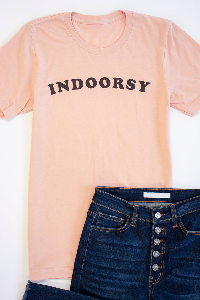 Indoorsy Graphic Tee Heather Peach