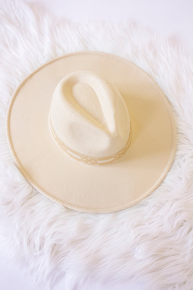 Keep Me Holding On Felt Hat Beige