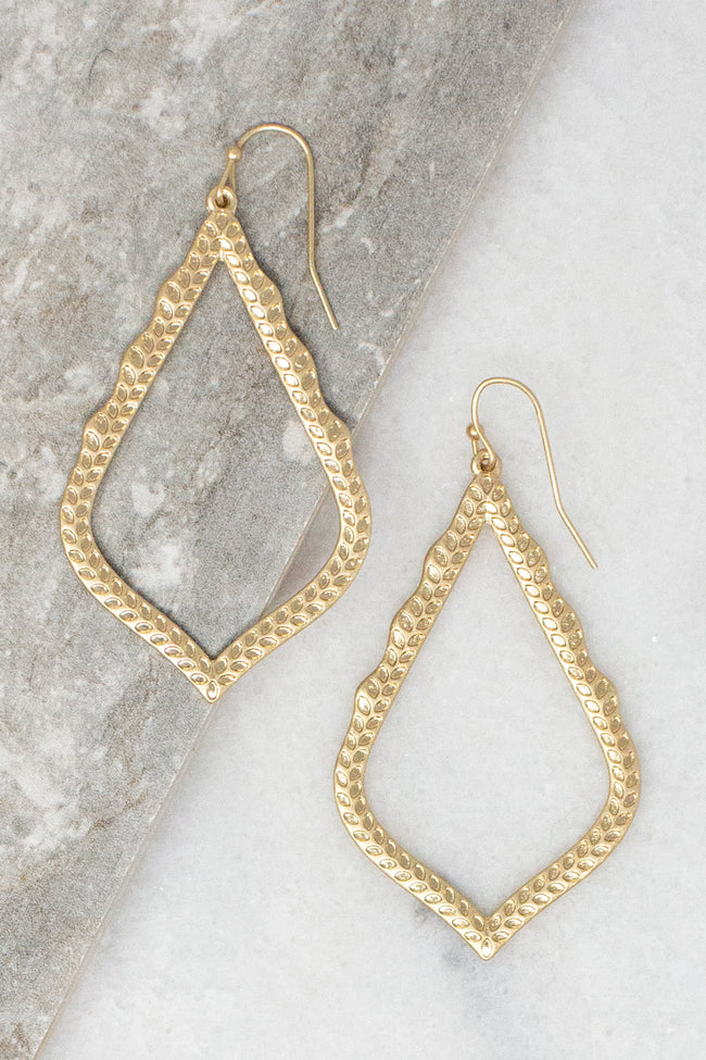 Wish You Could Textured Teardrop Earrings