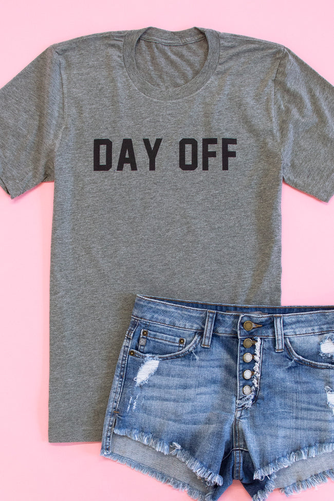 Day Off Grey Graphic Tee