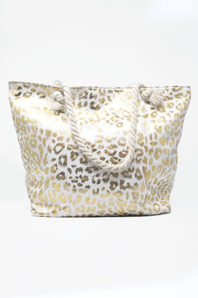 Always An Original Gold Animal Print Tote