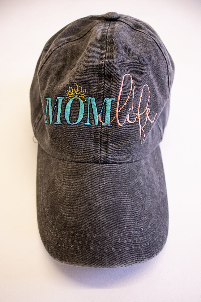 Mom Life Crown Embroidered Baseball Cap
