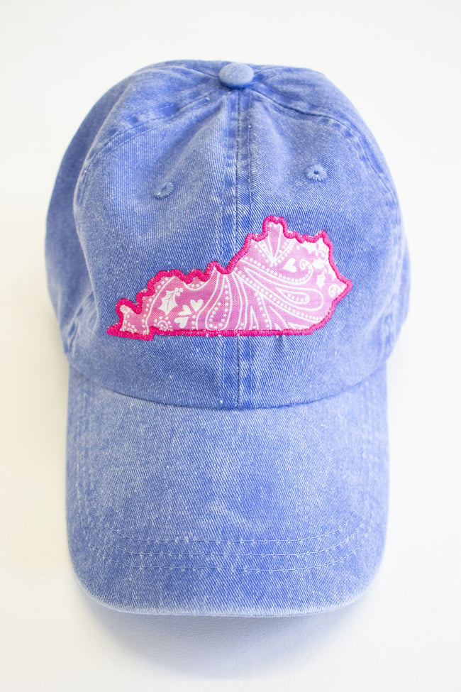 State Outline Applique Baseball Cap