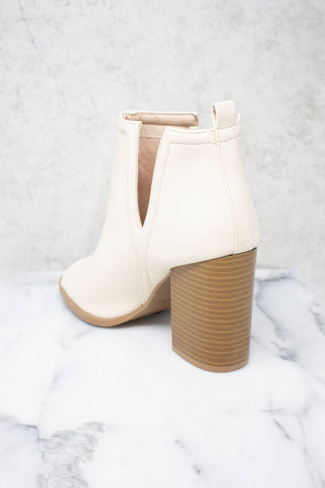 The Beth Cream Booties