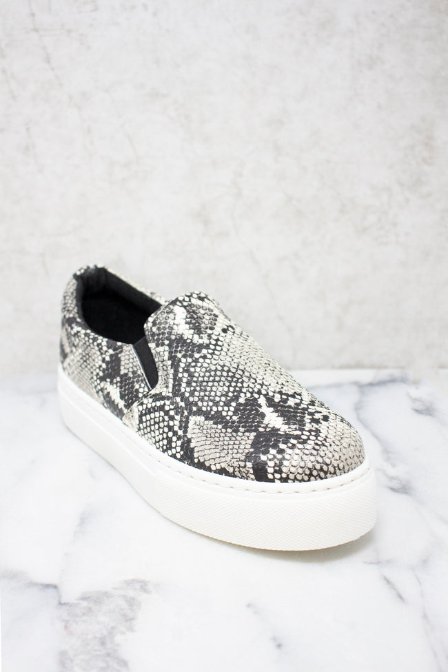 The Natalie Snakeskin Print Sneakers