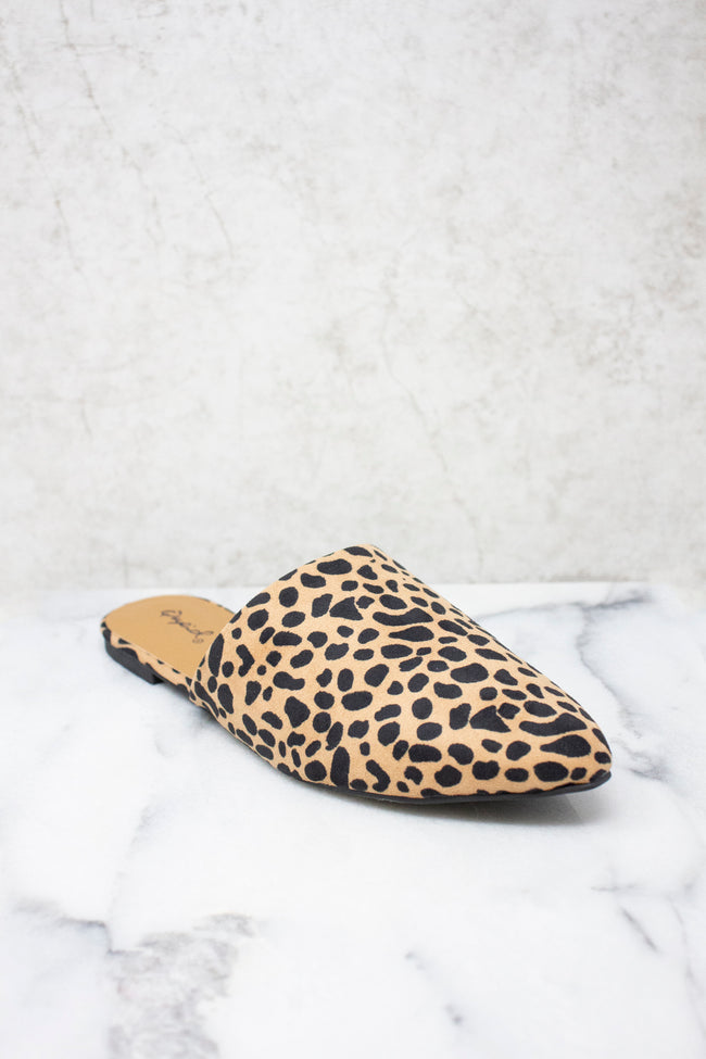 The Emma Brown Animal Print Mules