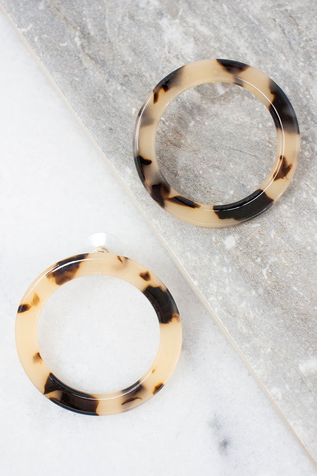 Whisper To Me Tortoiseshell Acrylic Earrings
