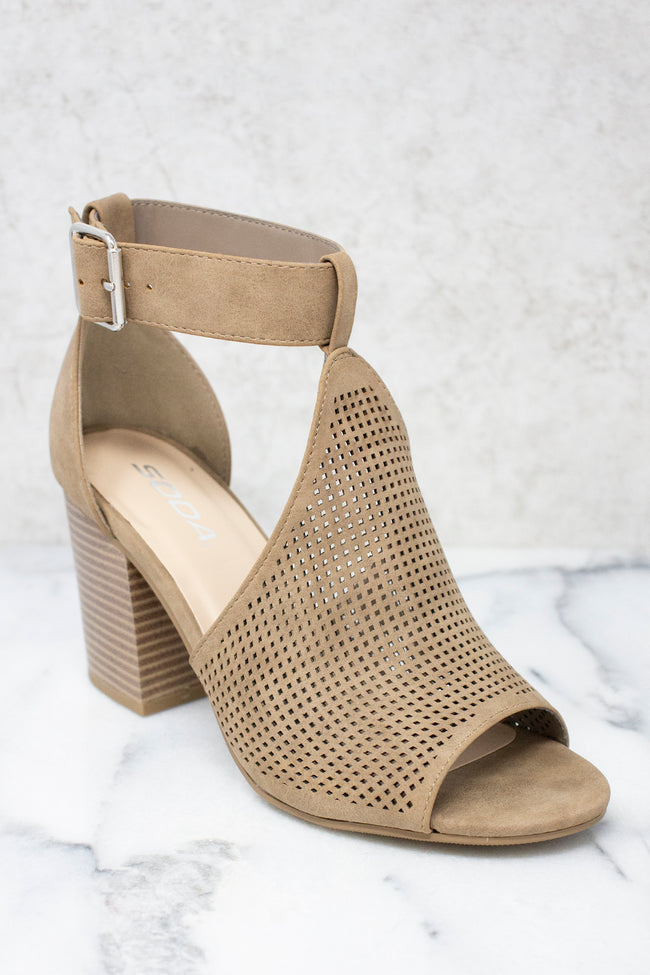 The Maisie Taupe Heels FINAL SALE