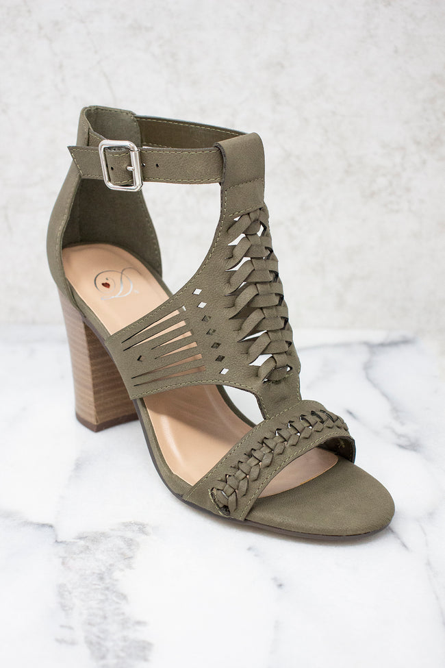 The Ariana Olive Heels FINAL SALE