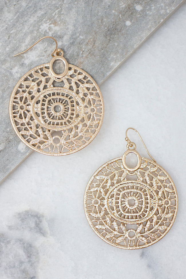Unique Mystery Gold Earrings