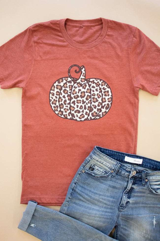 Animal Print Pumpkin Rust Graphic Tee