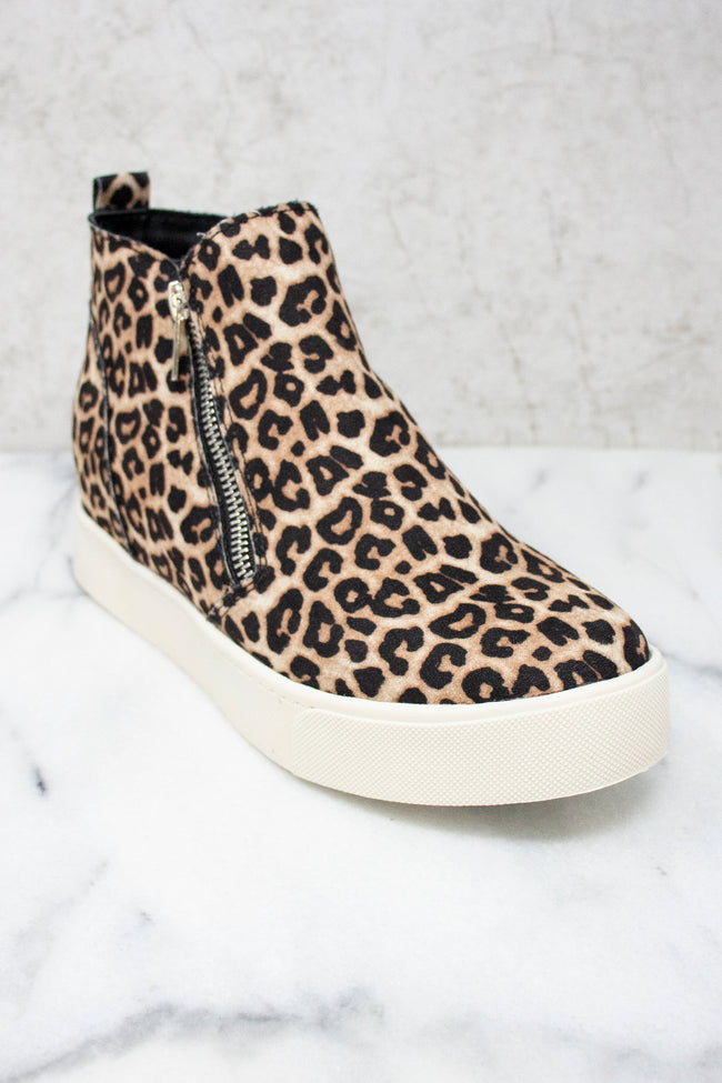 The Danielle Animal Print Wedge Sneakers