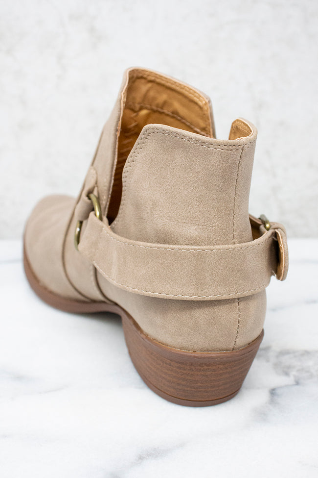 The Mia Taupe Booties FINAL SALE