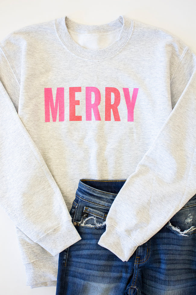 Colorful Merry Ash Graphic Sweatshirt