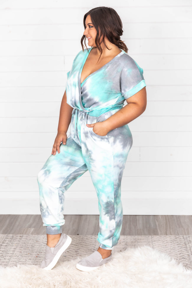 I'm All In Tie Dye Mint Jumpsuit