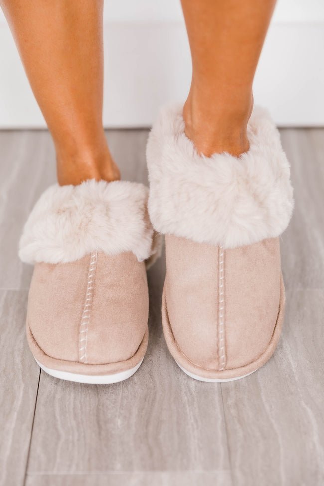 I'm Walking On Air Taupe Slippers FINAL SALE
