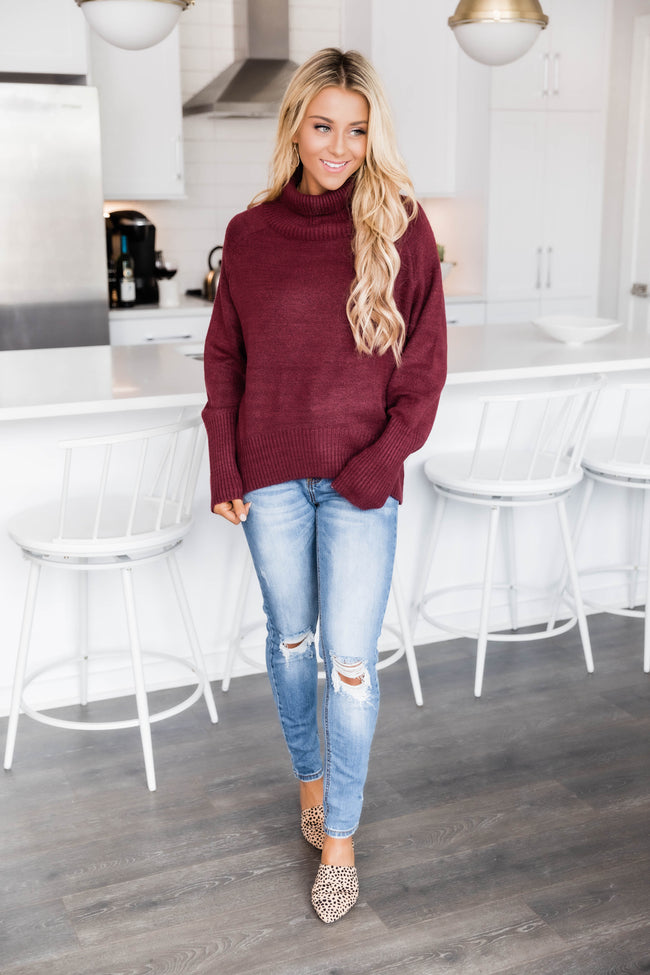 If You'll Love Me Wine Sweater FINAL SALE