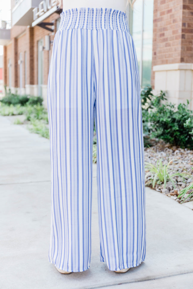 If I Could Escape Striped Pants Blue
