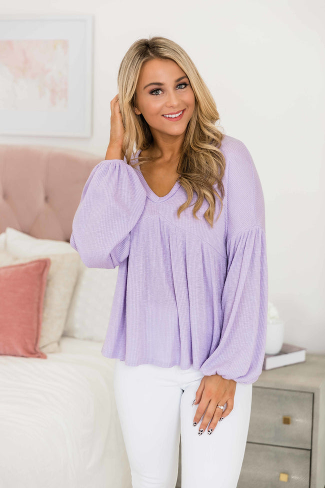 Inspired To Dream Again Blouse Lilac