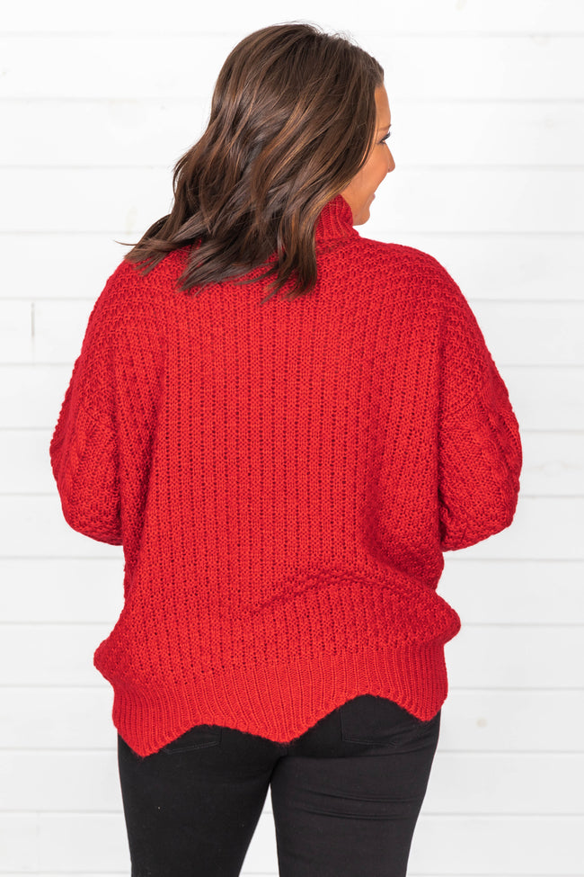 Just One Love Red Sweater