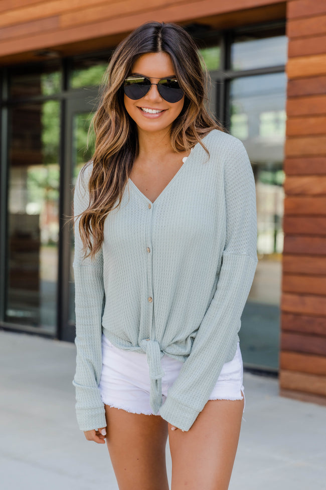 Just Be Beautiful Light Sage Blouse