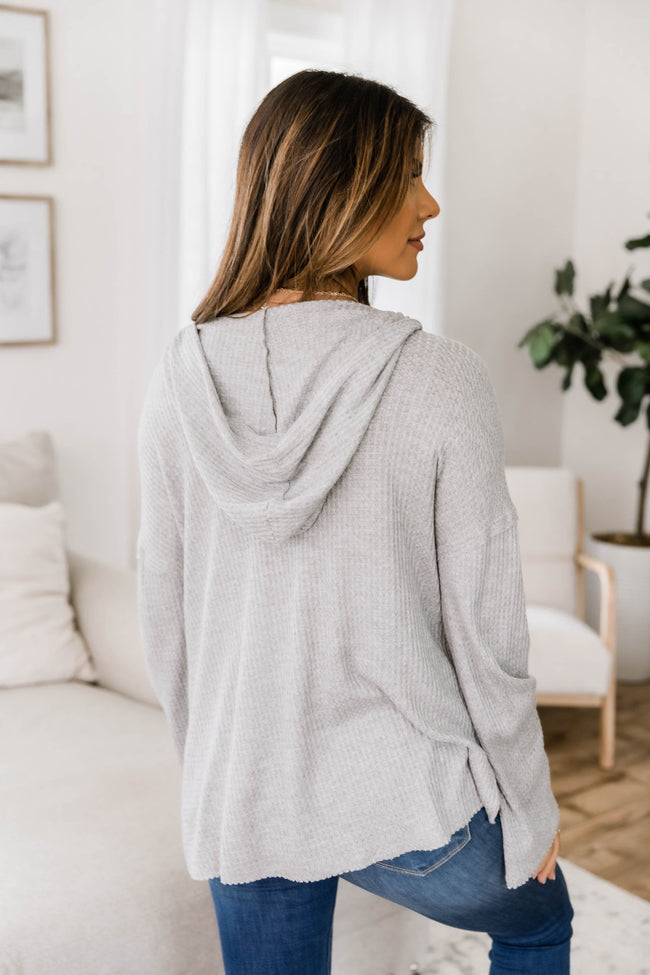 Keep Leading Me To Love Heather Grey Hoodie CLEARANCE