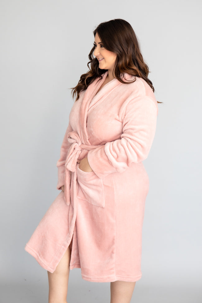 Lazy Sunday Fuzzy Blush Robe