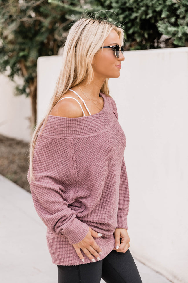 Leave It All Behind Mauve Pullover
