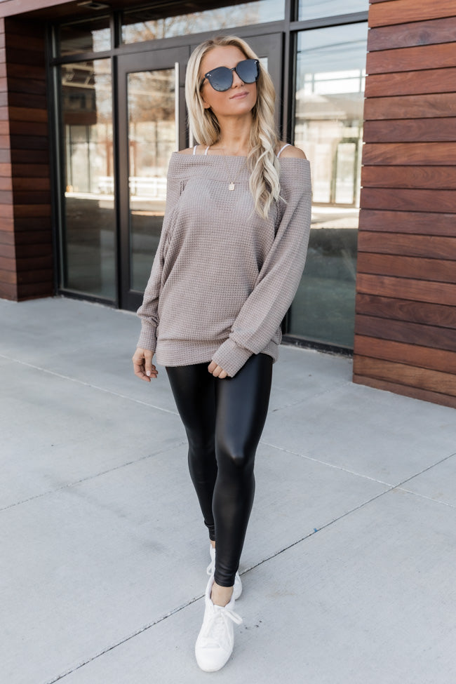 Leave It All Behind Mocha Pullover
