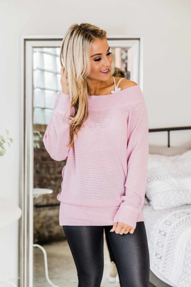 Leave It All Behind Light Pink Pullover