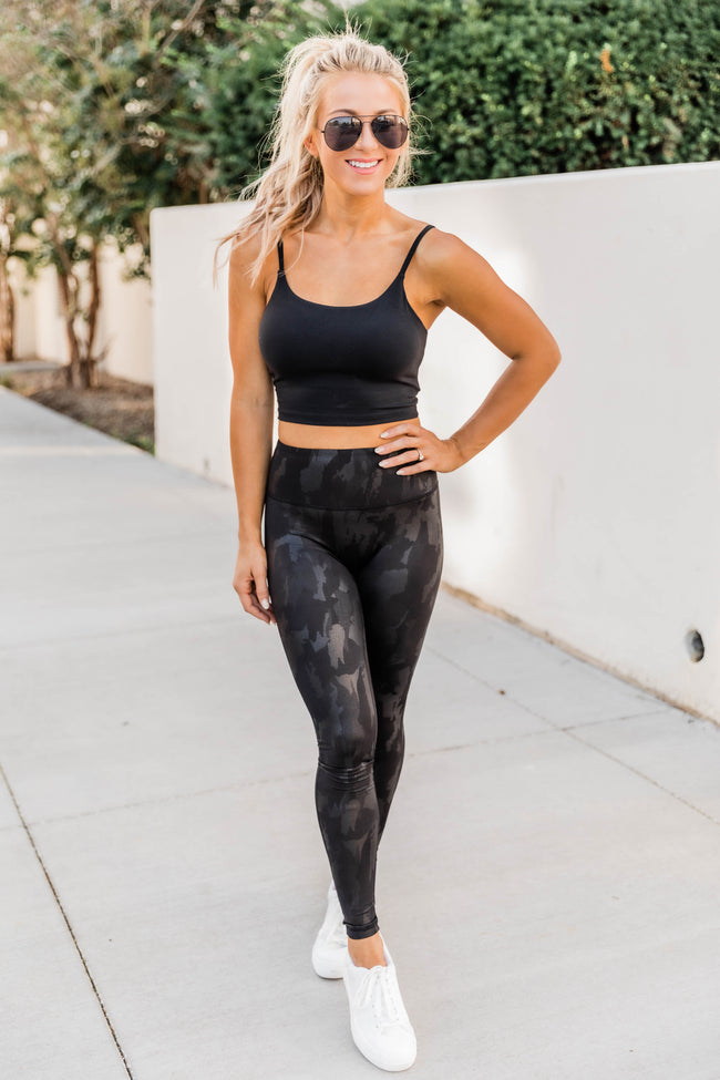 Go An Extra Mile Camo Leggings Black