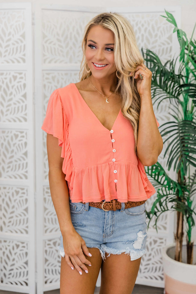 Long Road Home Blouse Peach