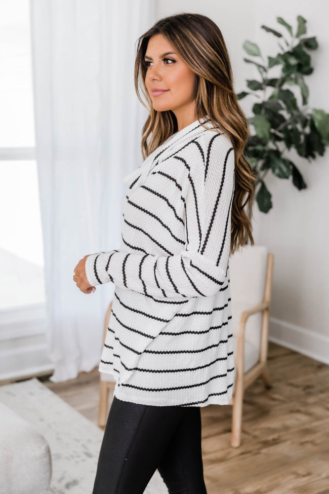 Love All The Days White Striped Pullover FINAL SALE