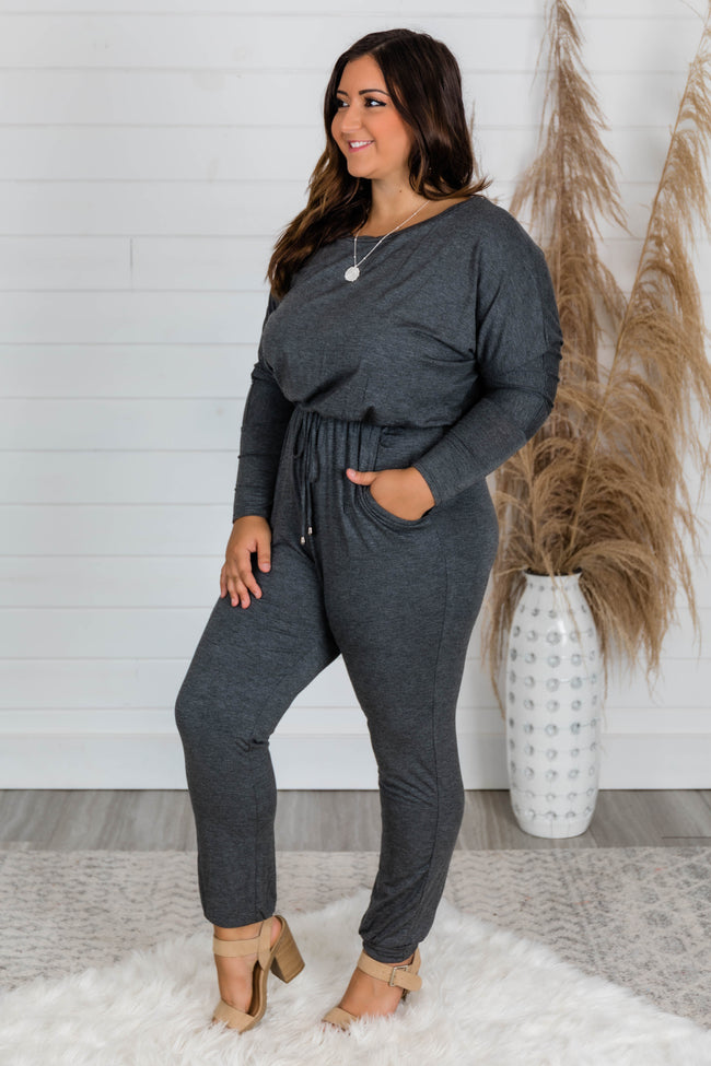 Love Is All Around You Grey Jumpsuit