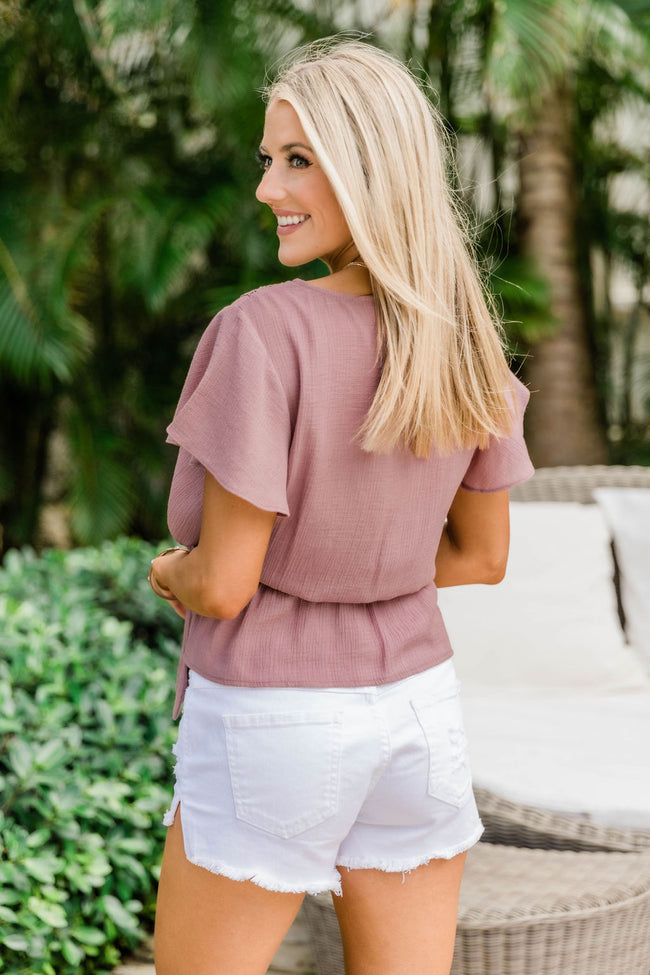 Love Happens Dusty Mauve Blouse FINAL SALE