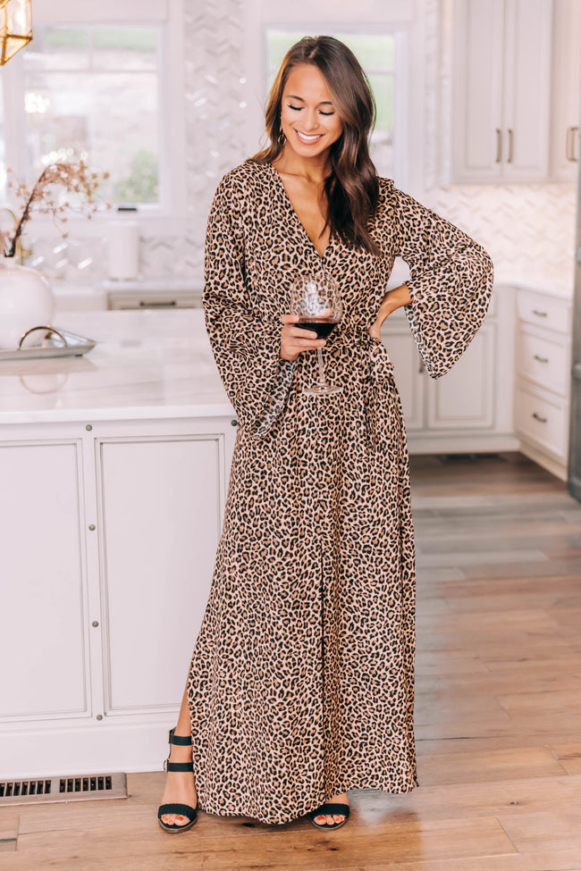 Love Of The Wild Animal Print Maxi Dress FINAL SALE