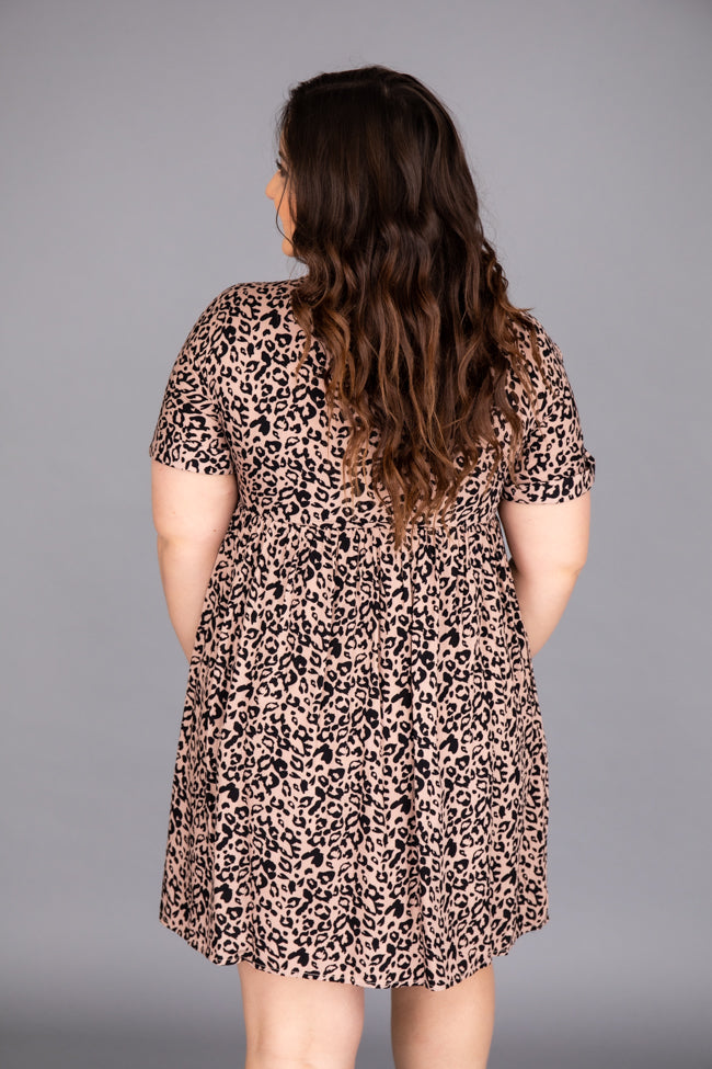 Unstoppable Feeling Babydoll Animal Print Dress