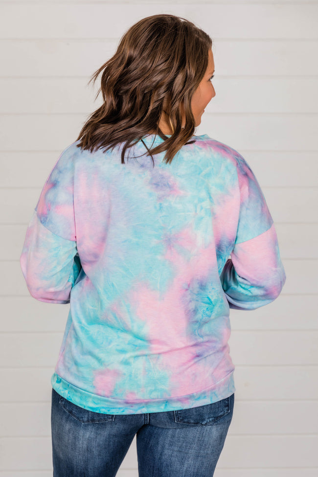 Make Me Closer to You Tie Dye Blouse Pink