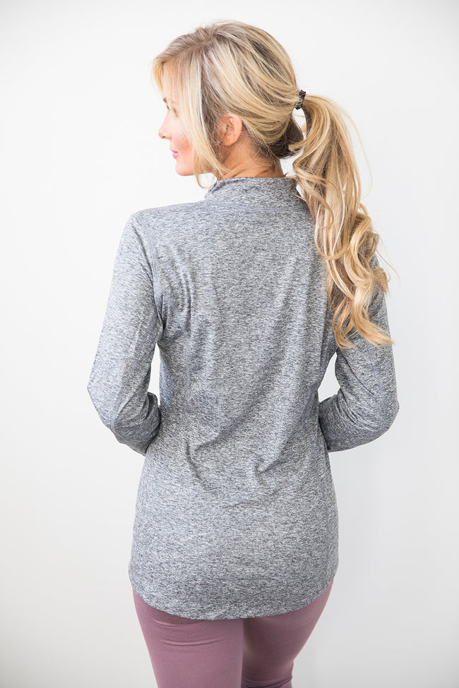 Grey Space Dye Pullover FINAL SALE